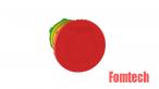 形急停蘑菇頭,  Ø 22, 紅
